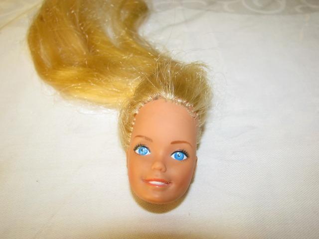 Barbie head before reroot