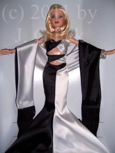Noir et blanc Barbie doll