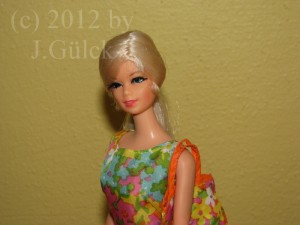 Stacey dressed in Bouncy Flouncy