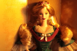 Second Holiday Treasures Barbie doll